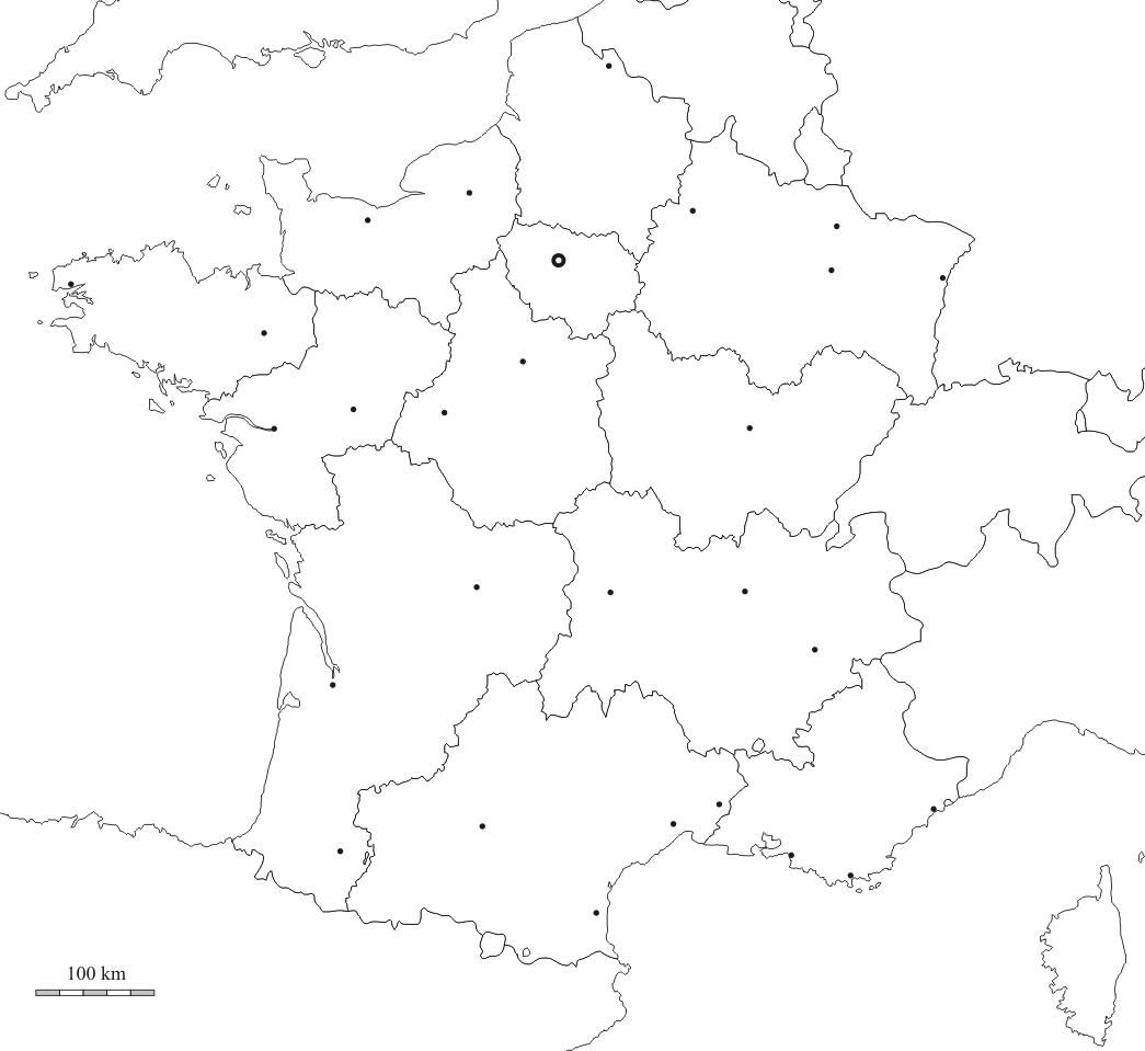 Le Découpage Administratif De La France : Les Régions De La encequiconcerne Le Découpage Administratif De La France