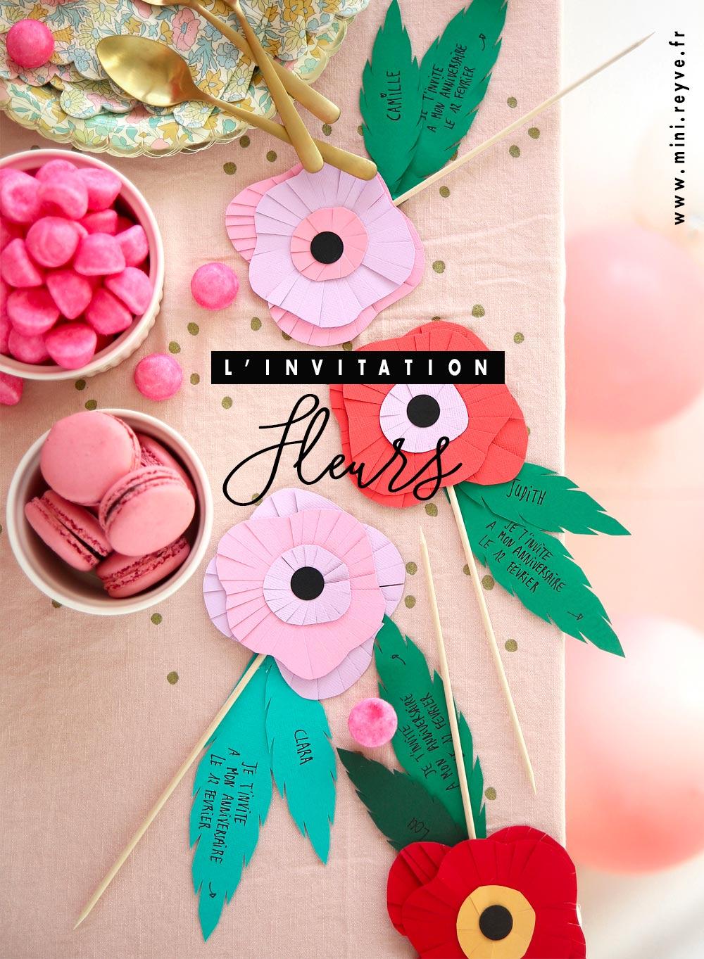 Le Diy De L'invitation Fleur En Papier De Couleur Découpé En serapportantà Fleurs À Découper