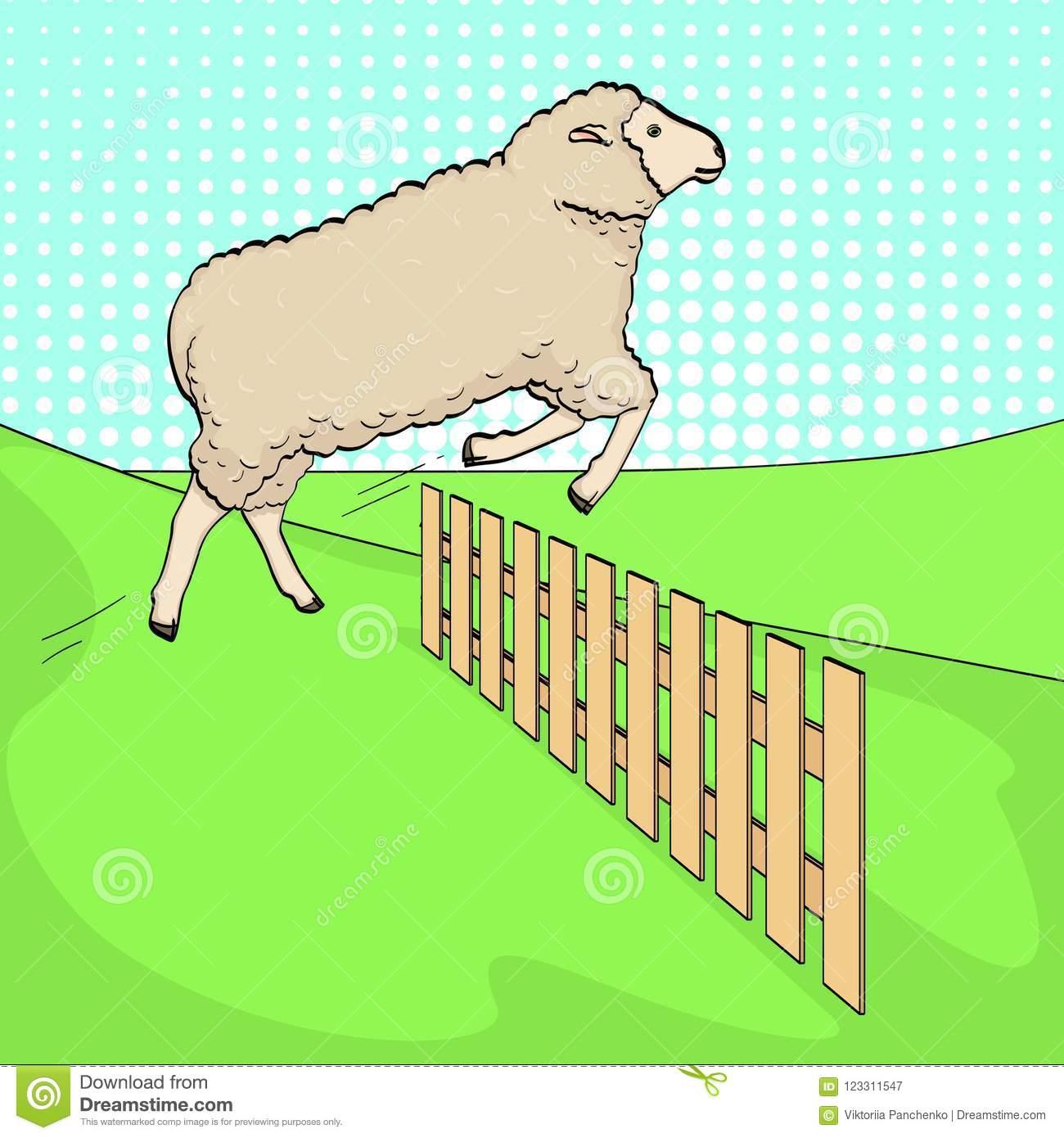 Le Fond D'art De Bruit, Les Moutons Saute Par-Dessus La tout Bruit Des Animaux De La Ferme
