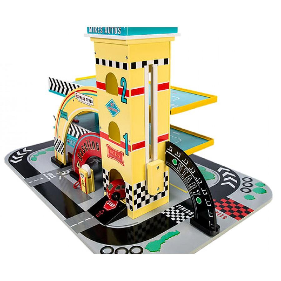 Le Garage Jaune De Mike - Le Toy Van, Cpe,garderie,en Bois encequiconcerne Le Jeu De La Voiture Jaune