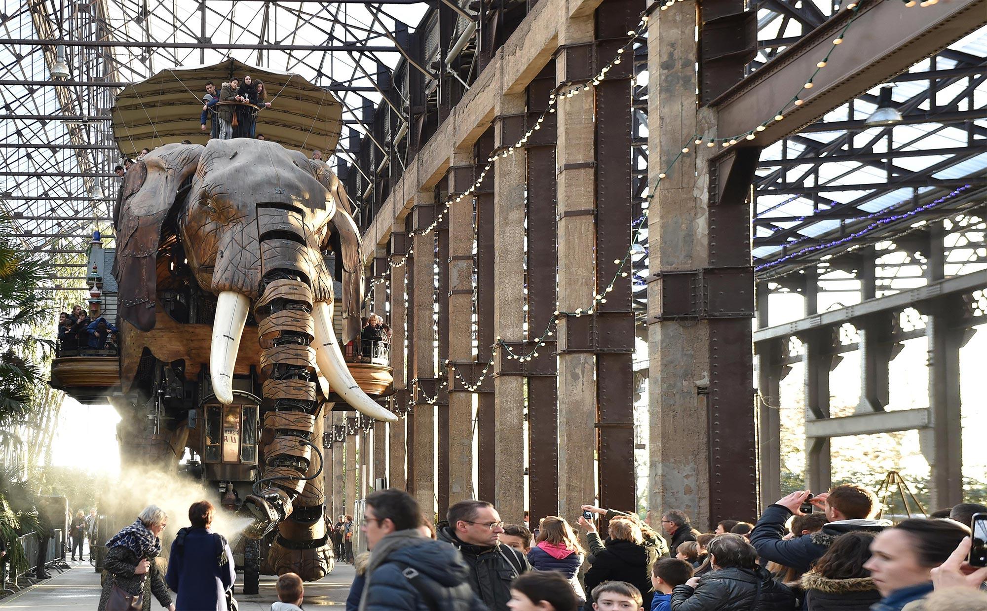 Le Grand Éléphant - Les Machines De L'île avec Barrissement Elephant