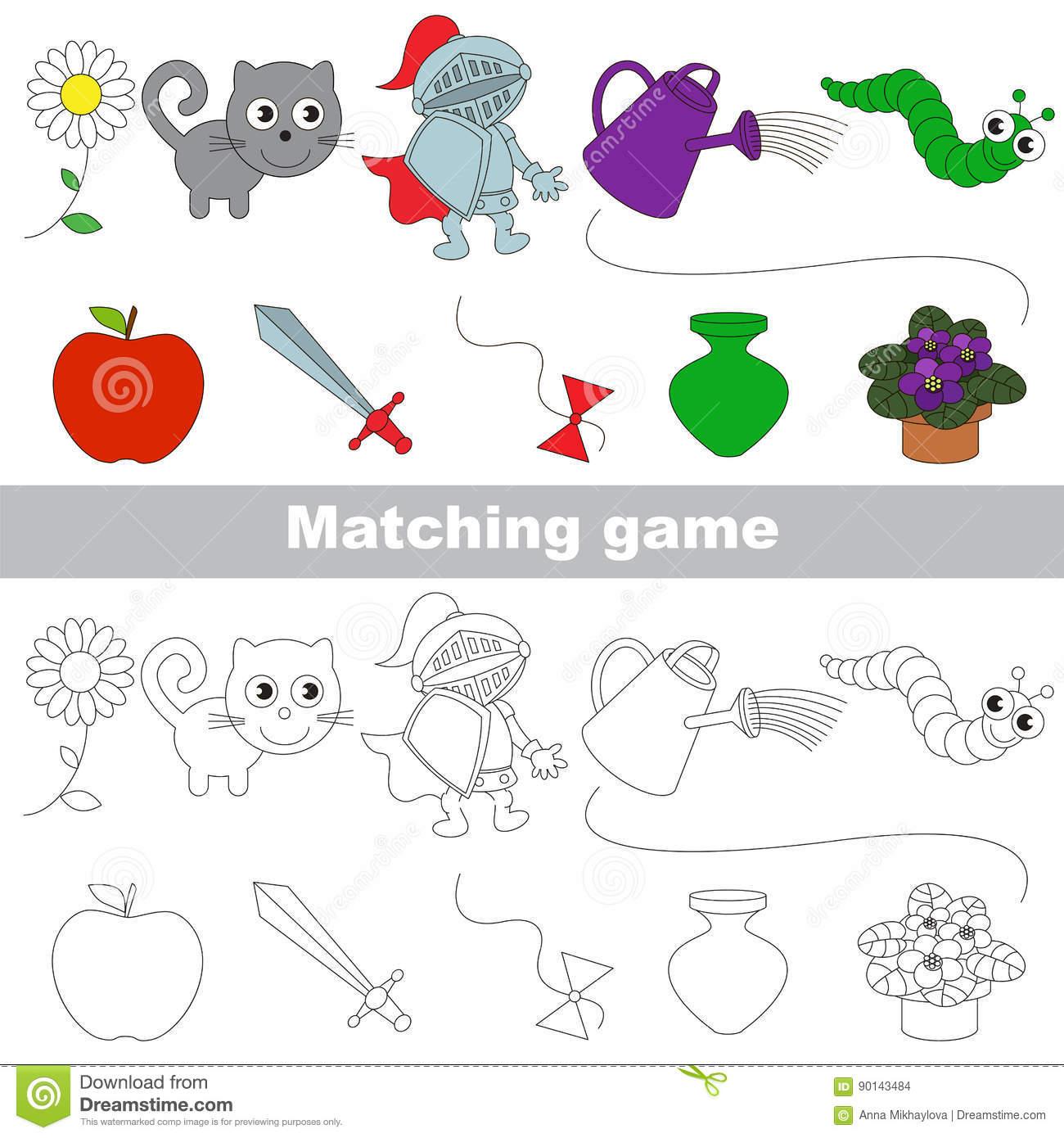 Le Jeu D'enfant Pour Trouver Des Paires Appropriées D'objets serapportantà Jeux Trouver Objet
