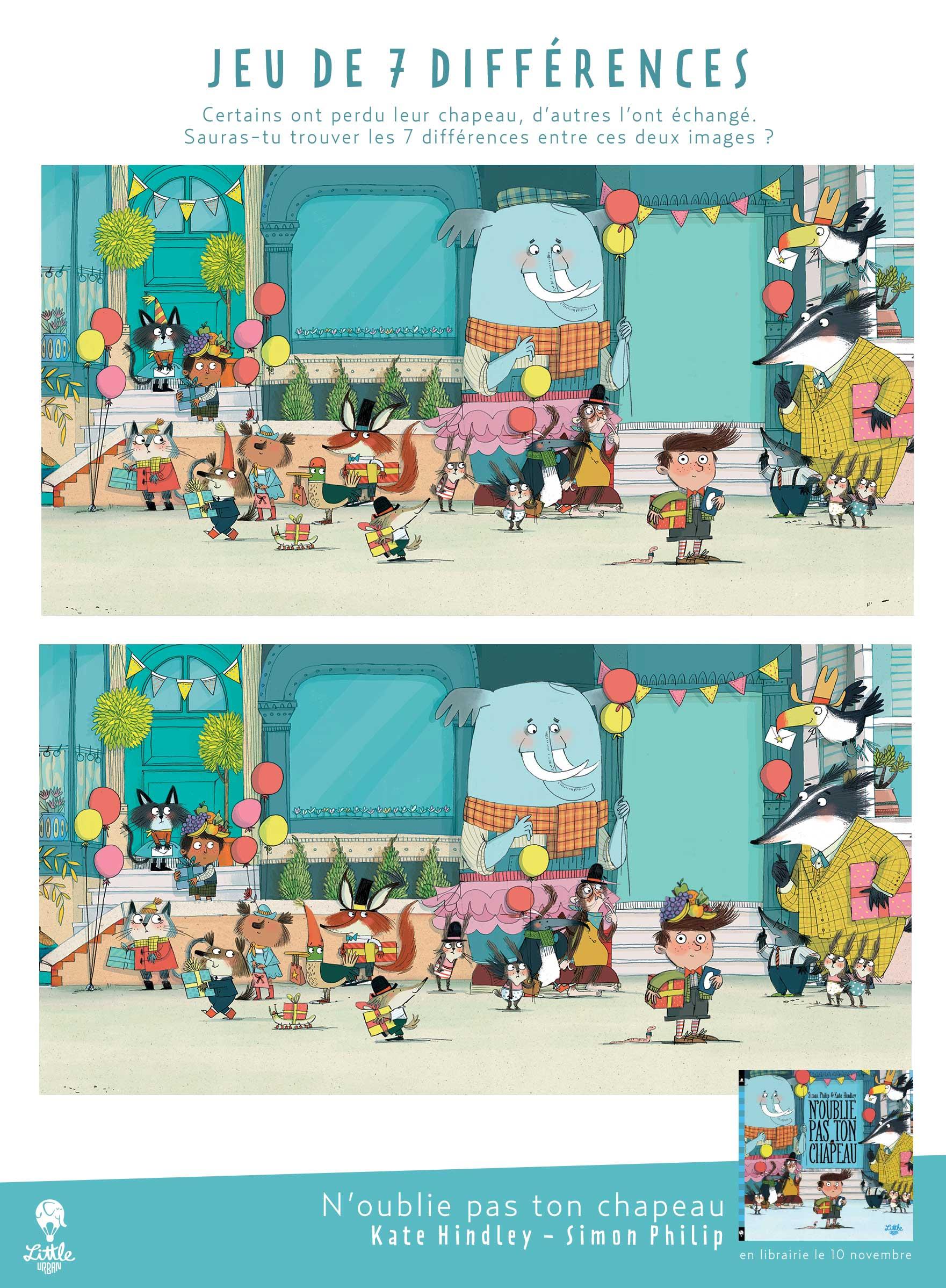 Le Jeu Des 7 Différences - N'oublie Pas Ton Chapeau - Little intérieur Jeu Des 7 Differences