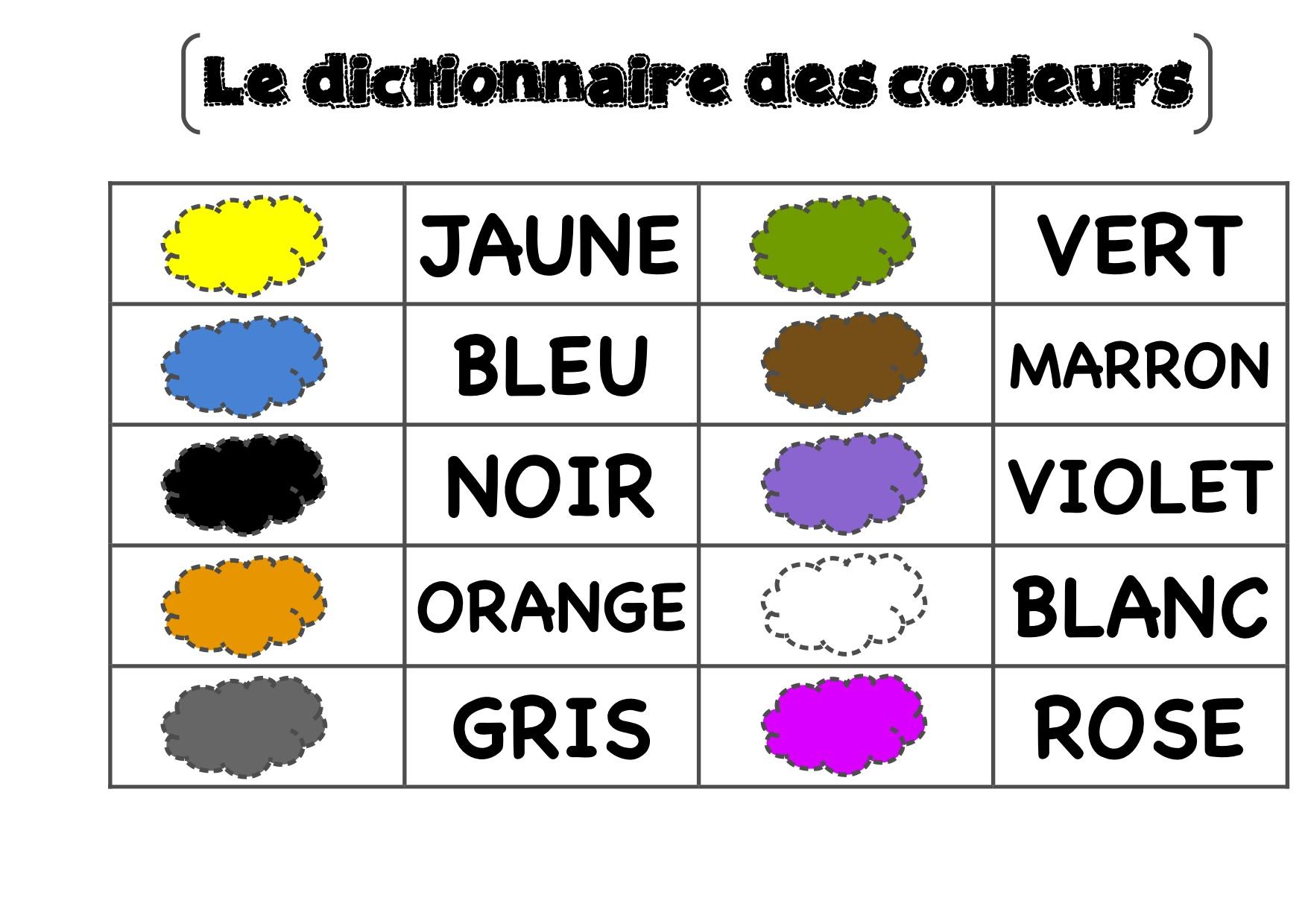 Le Jeu Des Couleurs - La Classe De Luccia ! pour Apprendre Les Couleur En Francais
