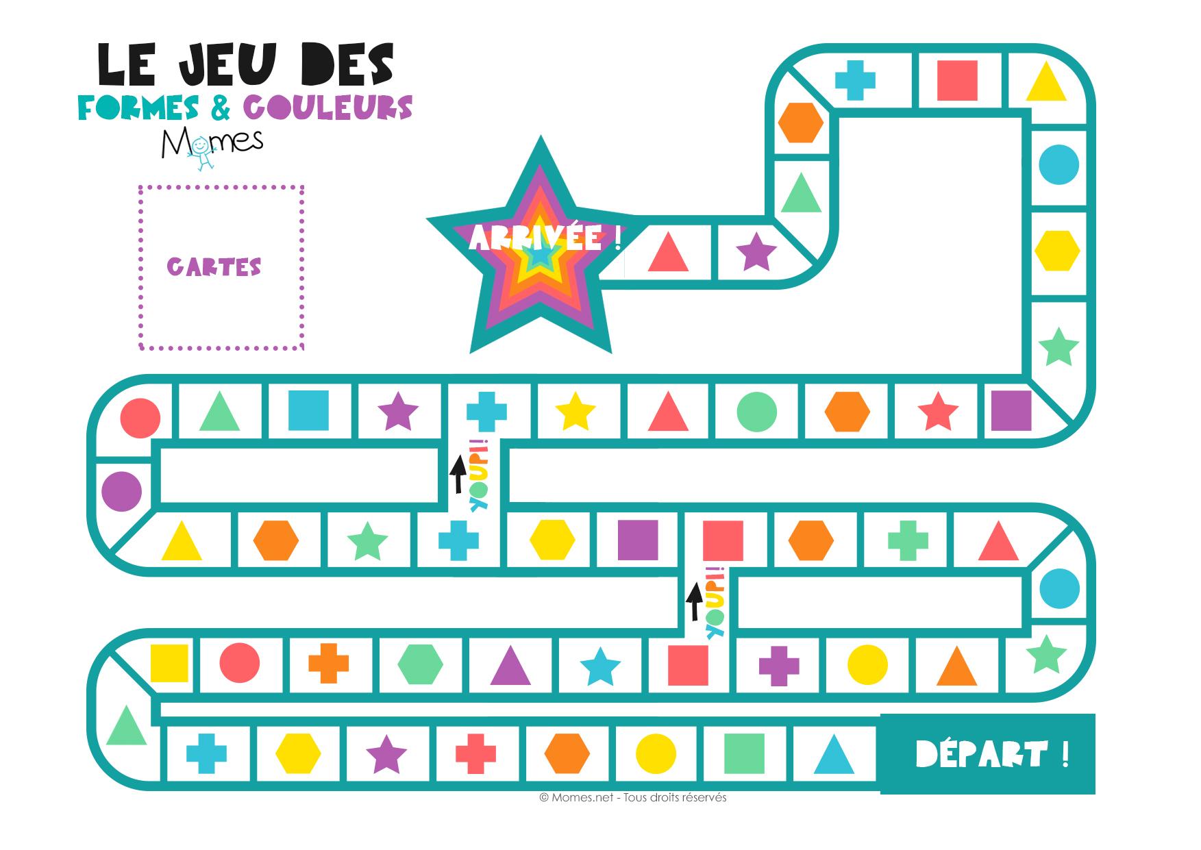 Le Jeu Des Formes Et Des Couleurs - Momes intérieur Plateau De Jeux De Société À Imprimer