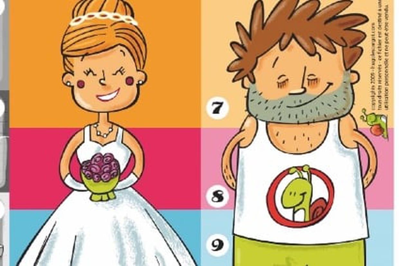 Le Jeu Du Mariage serapportantà Jeux De Différence Difficile