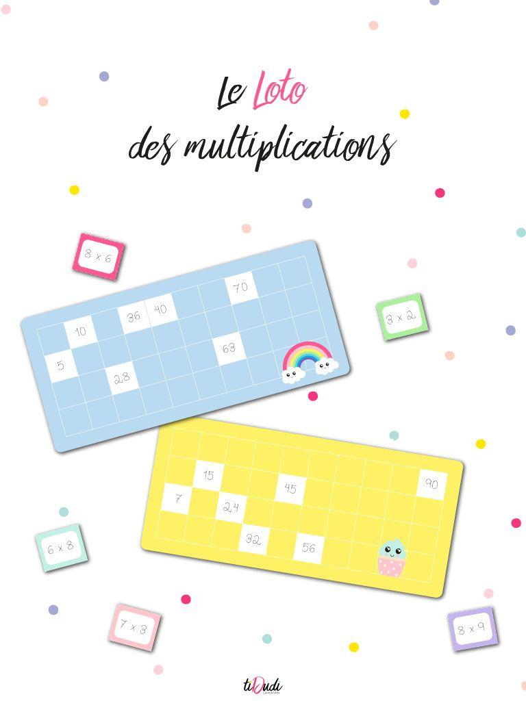 Le Loto Des Multiplications : Un Jeu De Tables De destiné Jeux De Éducatif Ce2