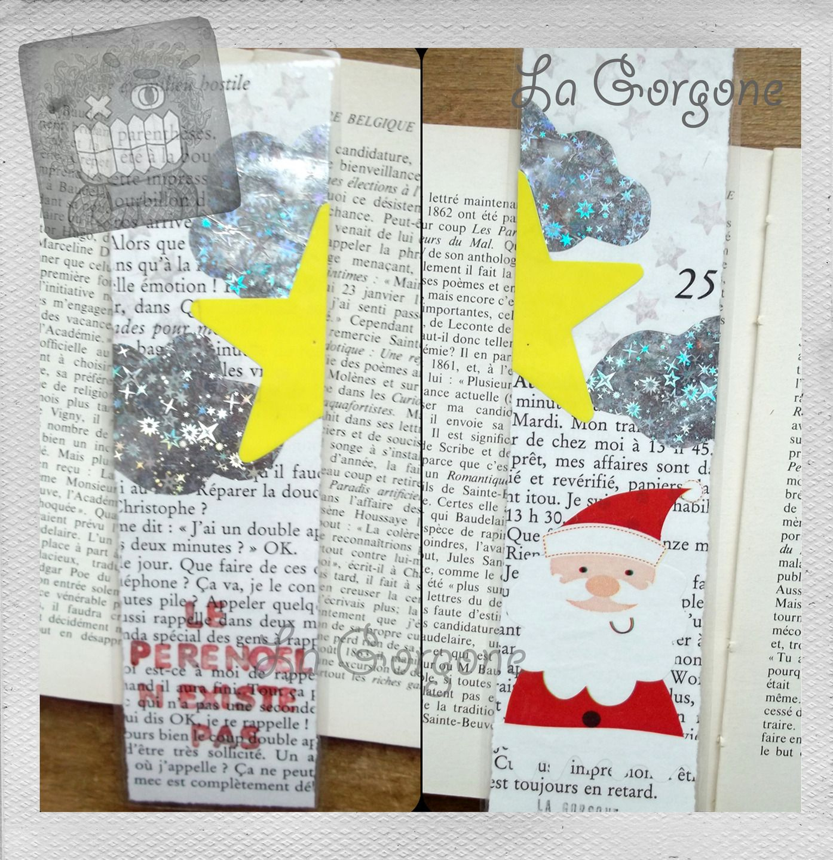 Le Père Noel. Marque Page Plastifié Unique Et Fait Main pour Papier Plastifié Imprimable