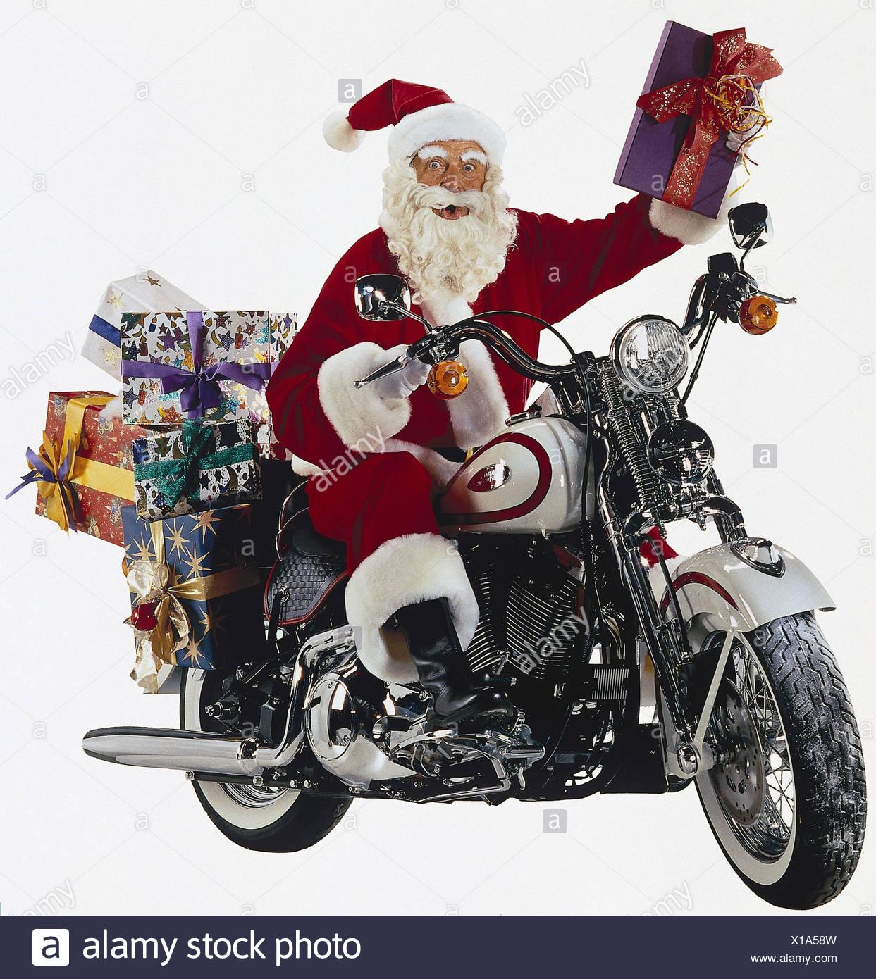 Le Père Noël, Un Motocycliste, Noël Studio, Découper, À L avec Pere Noel A Decouper
