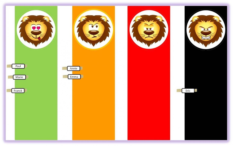 Le Petit Lion Du Comportement [Cycle 2] - Chez Lutin Bazar intérieur Photo De Lion A Imprimer En Couleur