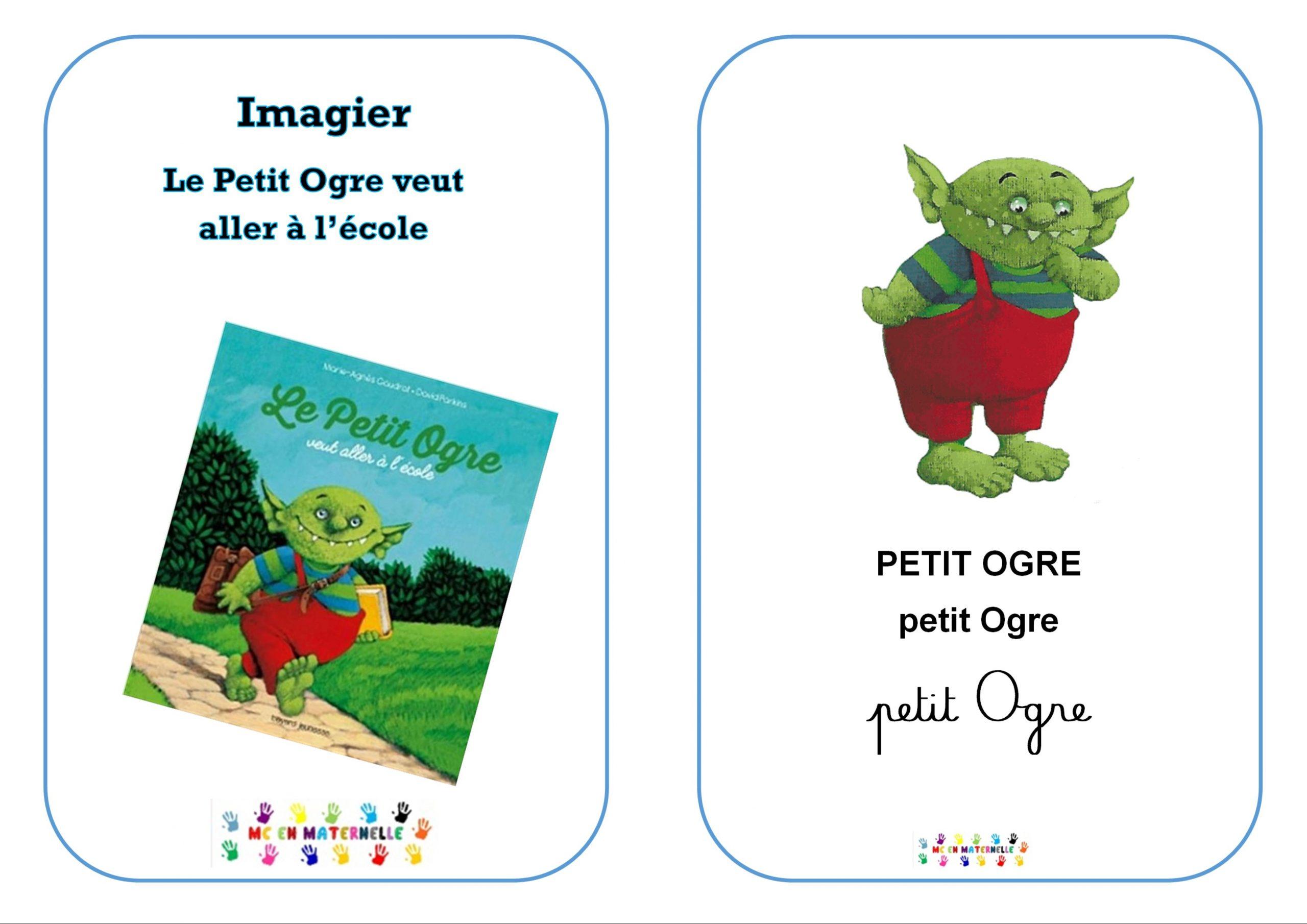 Le Petit Ogre Veut Aller À L'école : Imagier – Mc En Maternelle serapportantà Imagier Ecole
