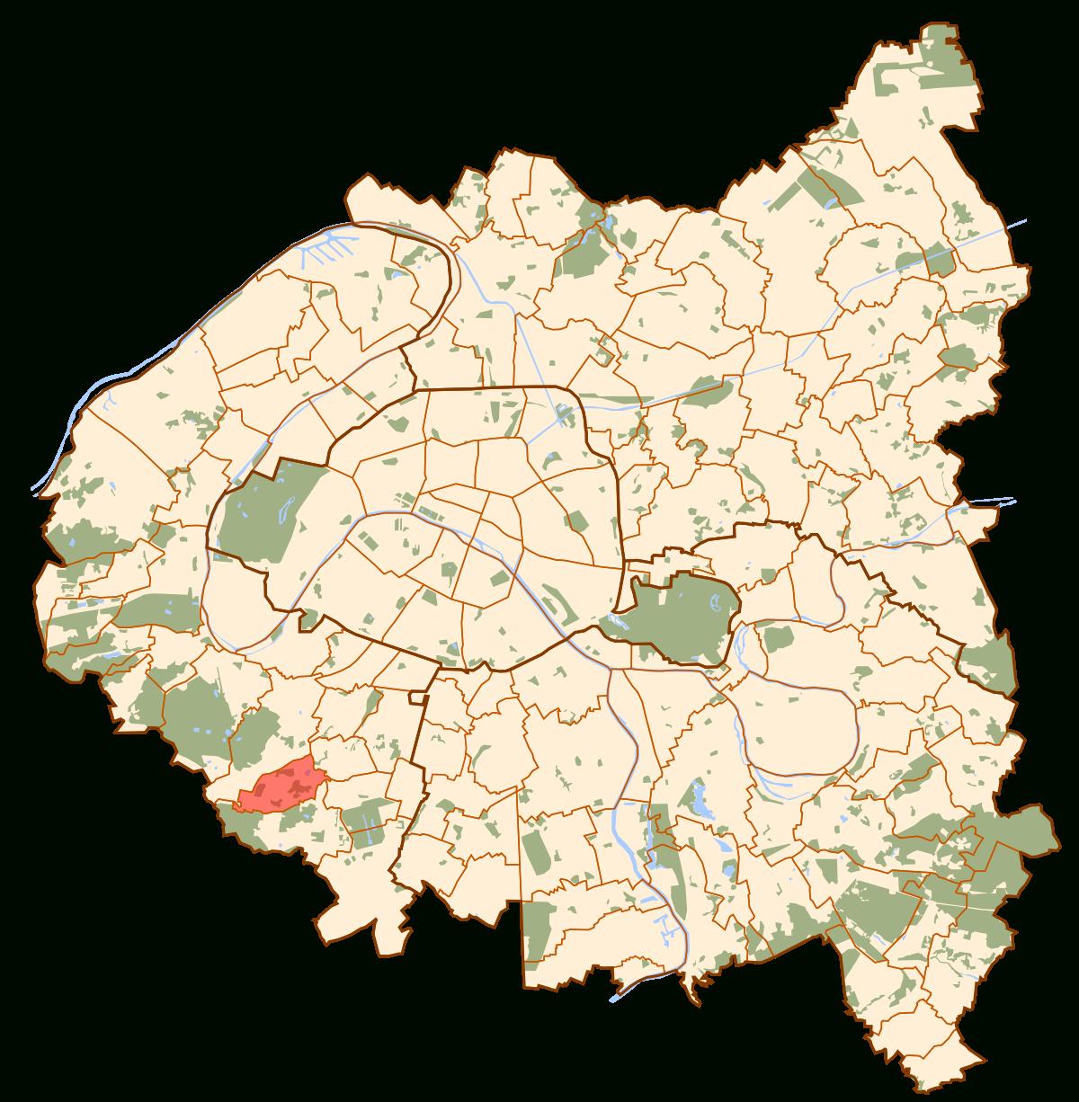 Le Plessis-Robinson - Wikipedia pour Petite Carte De France