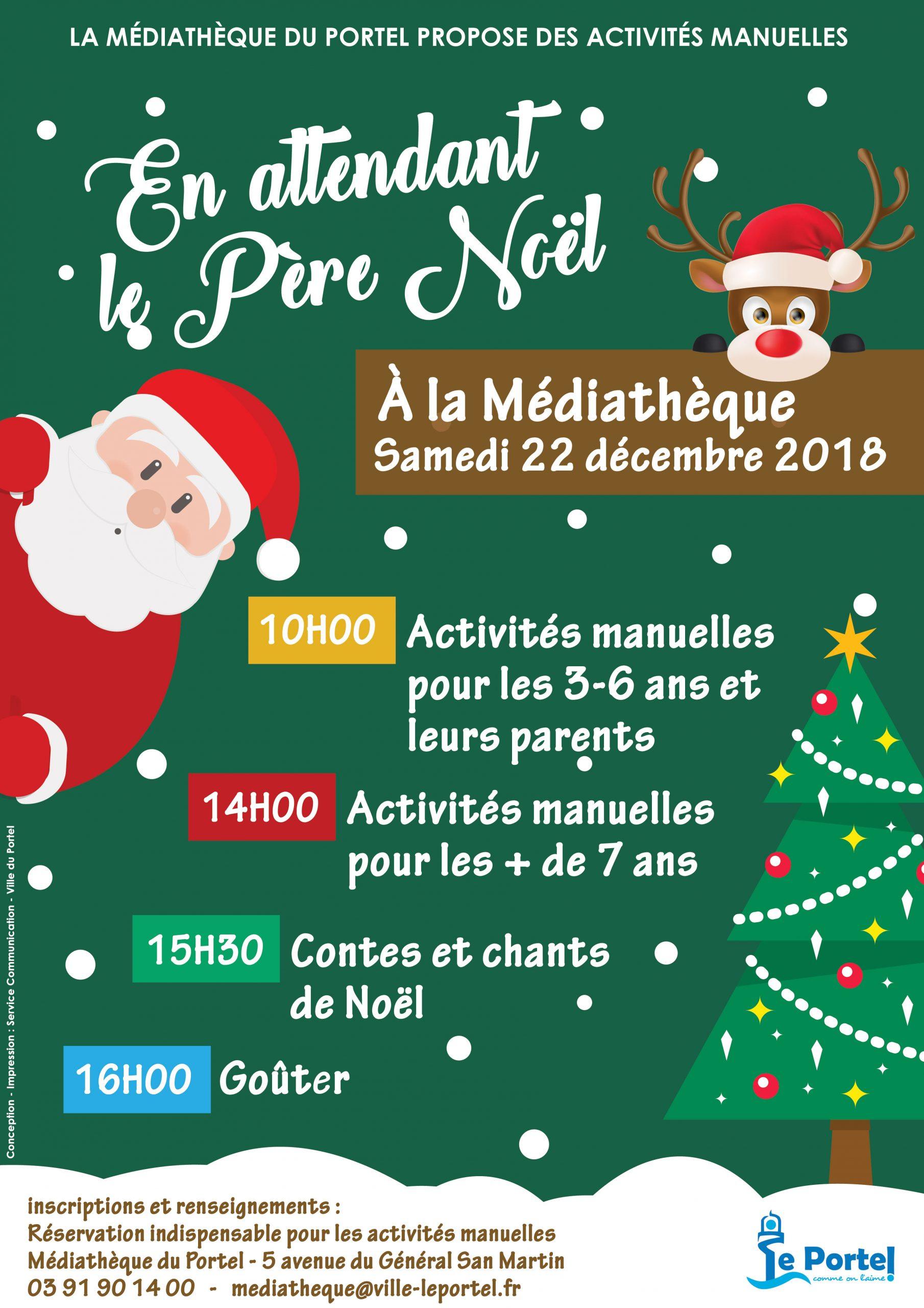 Le Portel » En Attendant Le Père Noël dedans Activités Manuelles Enfants Noel