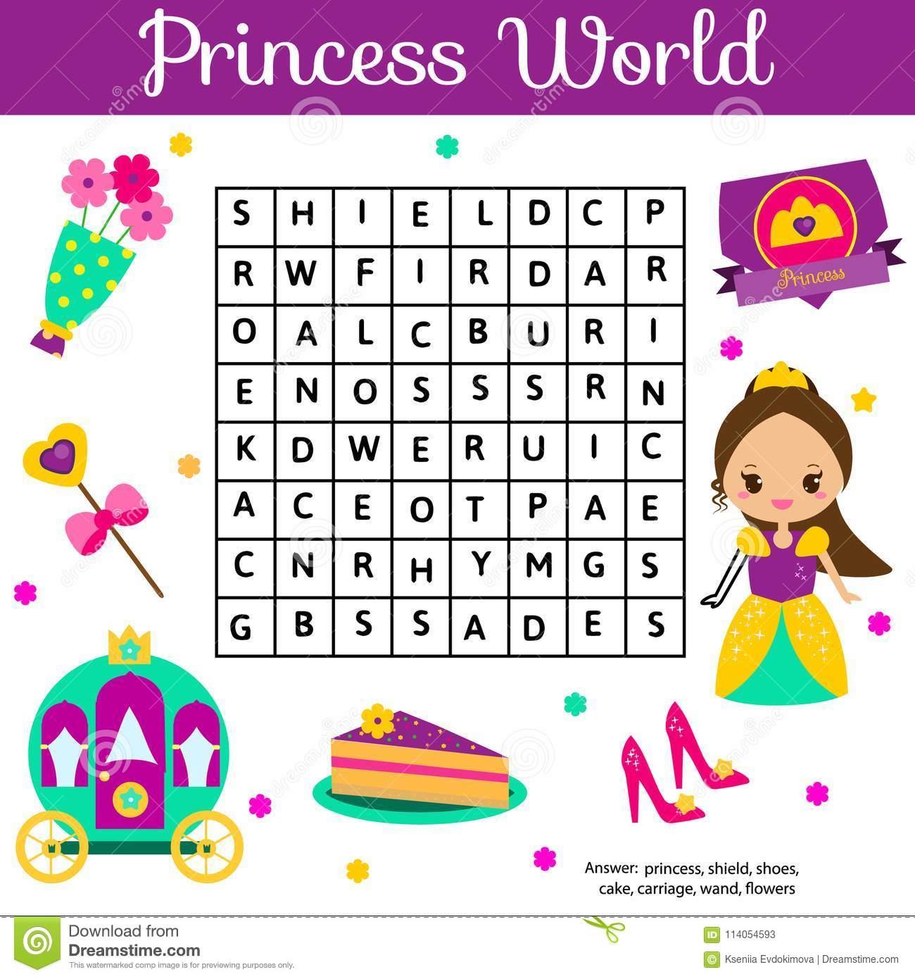 Le Puzzle De Recherche De Word Badine L'activité Jeu destiné Jeux De Fille Puzzle