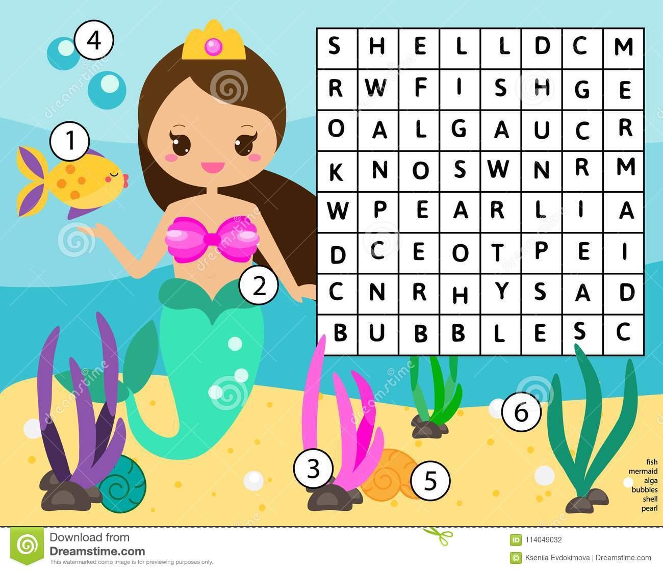 Le Puzzle De Recherche De Word Badine L'activité Jeu intérieur Jeux De Fille Puzzle