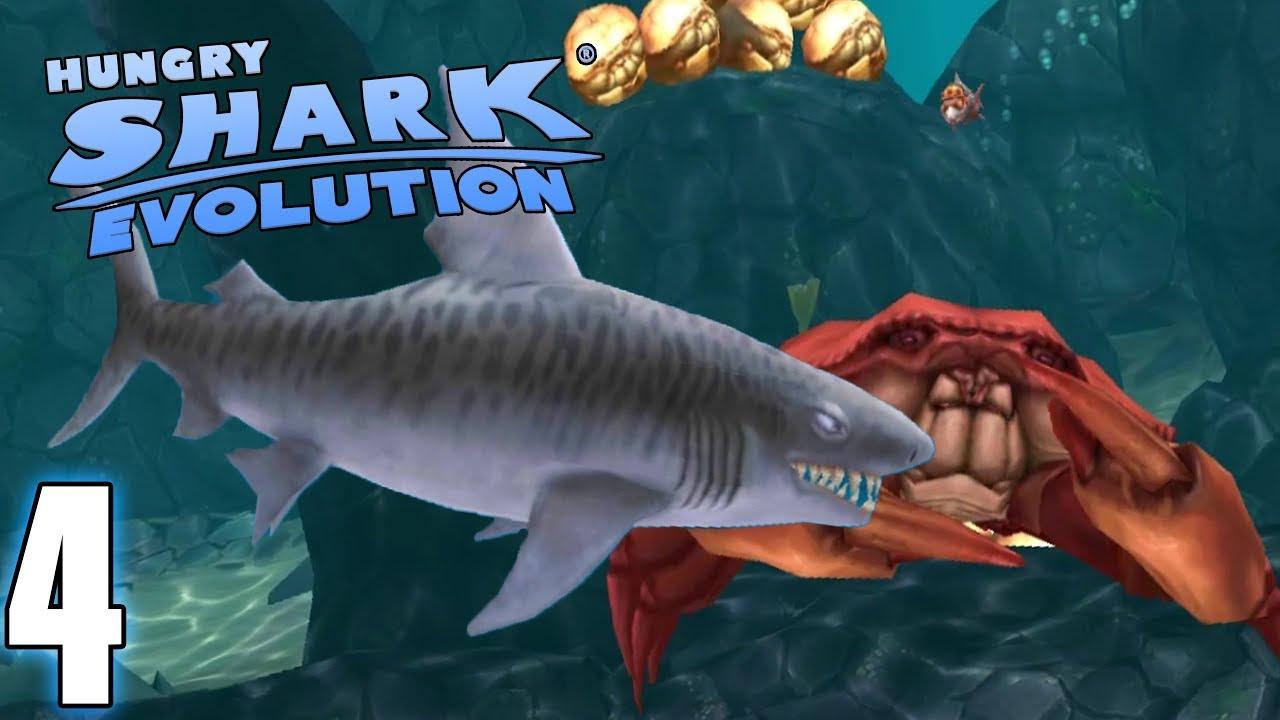 Le Requin Tigre Et Le Roi Des Crabes - Hungry Shark Evolution #4 (Fr) dedans Tous Les Jeux De Requin