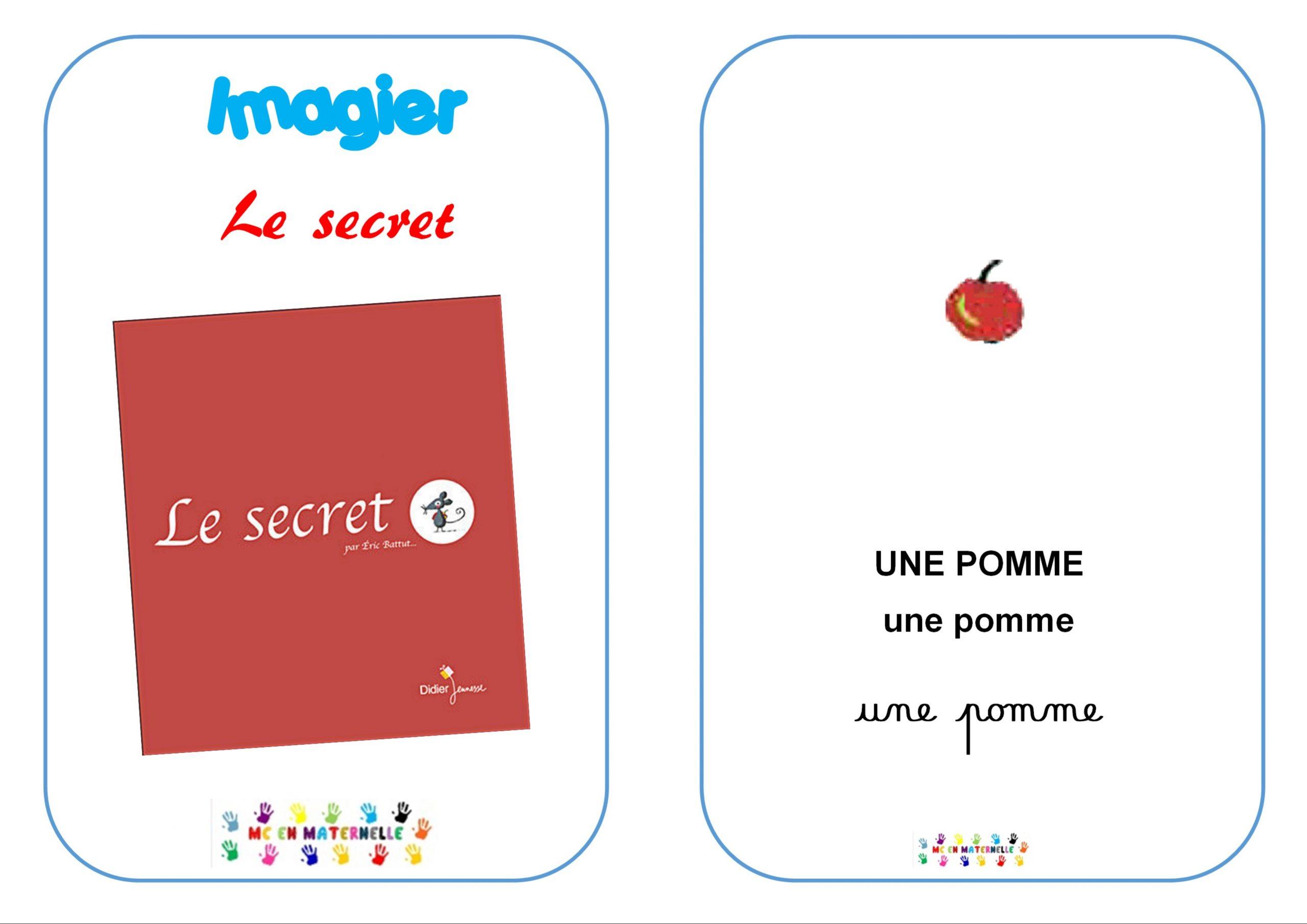 Le Secret : Imagier – Mc En Maternelle avec Imagiers Maternelle
