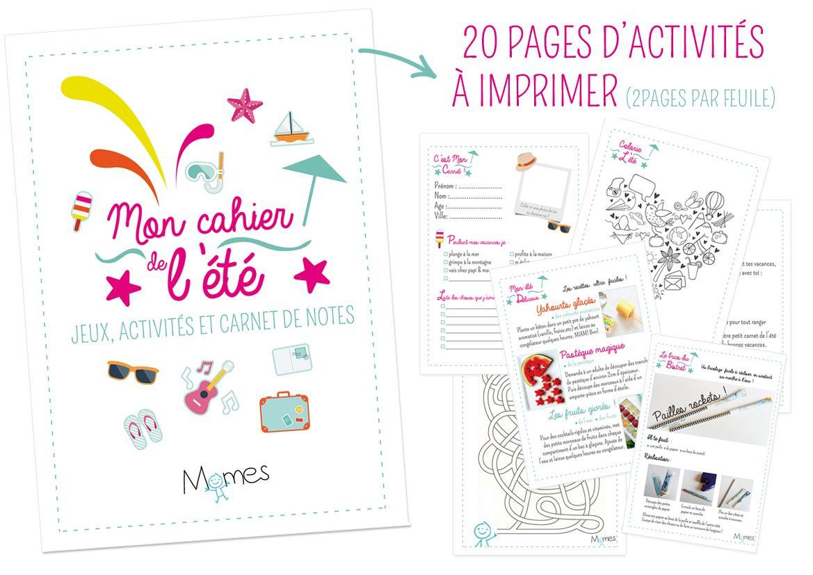 Le Super Cahier Vacances Pour Enfants À Imprimer !   Cahier intérieur Cahier De Vacances À Télécharger Gratuitement