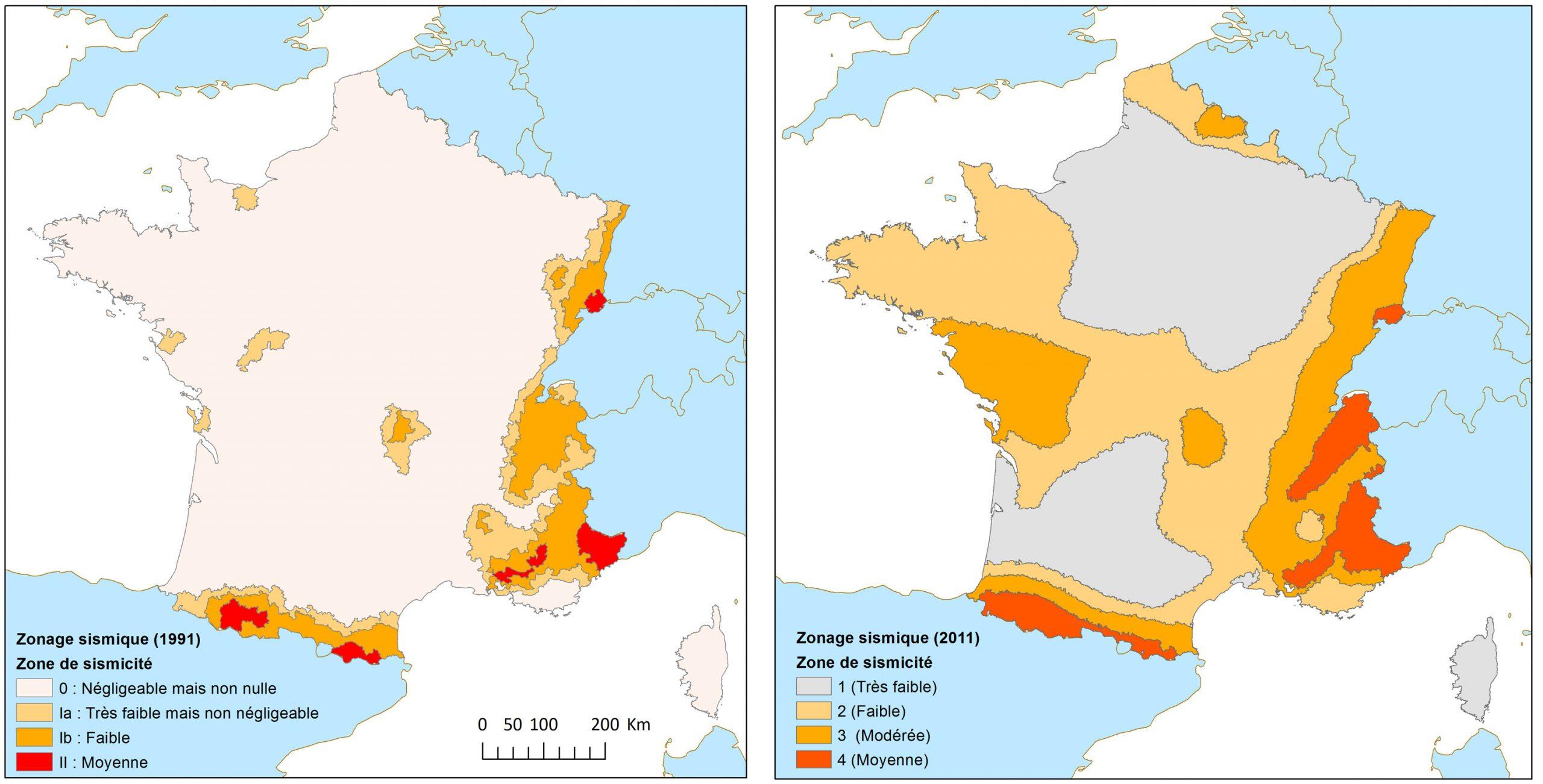 Le Zonage Sismique De La France encequiconcerne Voir La Carte De France