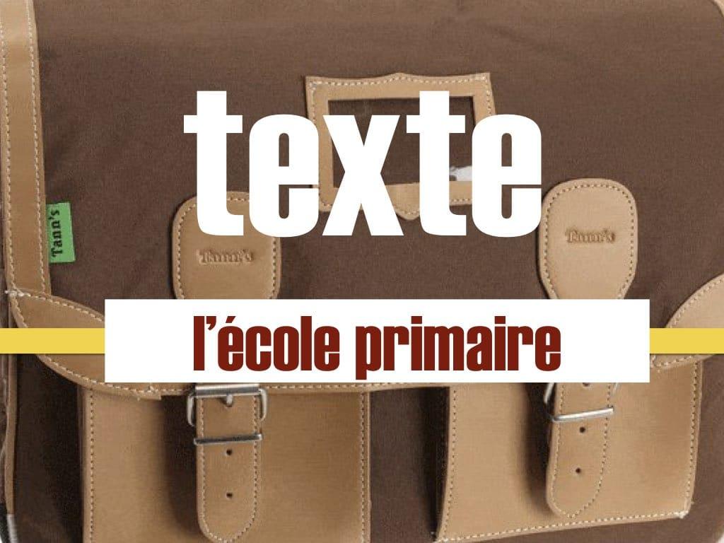 L'école Primaire - Texte Pour Débutant En Français Facile Fle serapportantà Apprendre A Ecrire Le Francais Pour Debutant