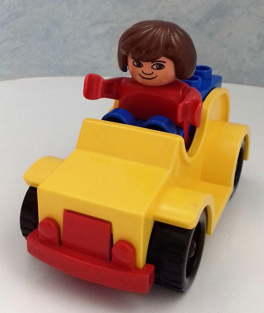Lego Duplo Voiture Jaune N°2610 concernant Jeux De La Voiture Jaune