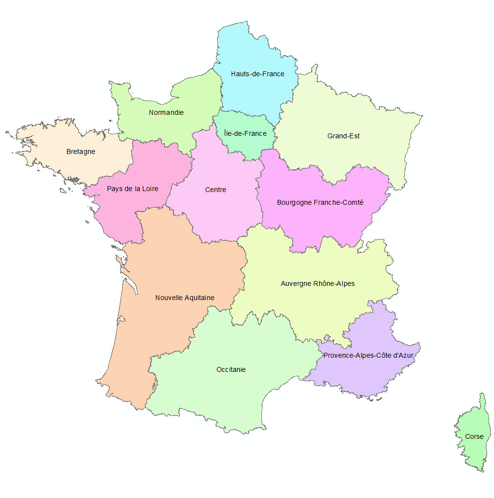 Les 13 Nouvelles Régions Françaises - Paloo Blog à La Carte De France Et Ses Régions