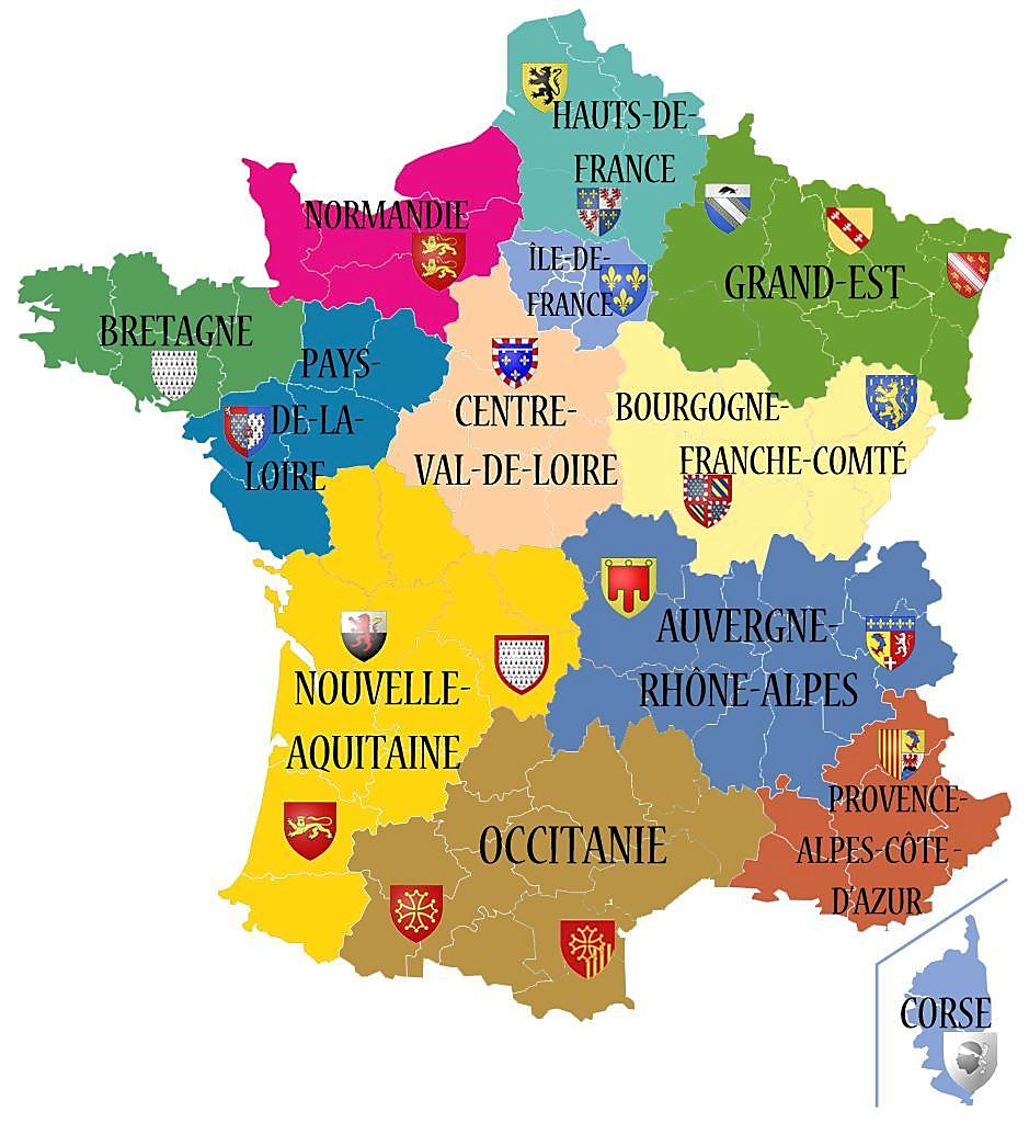 Les 13 Régions De La France Métropolitaine | Géographie, Les à Le Nouveau Découpage Des Régions