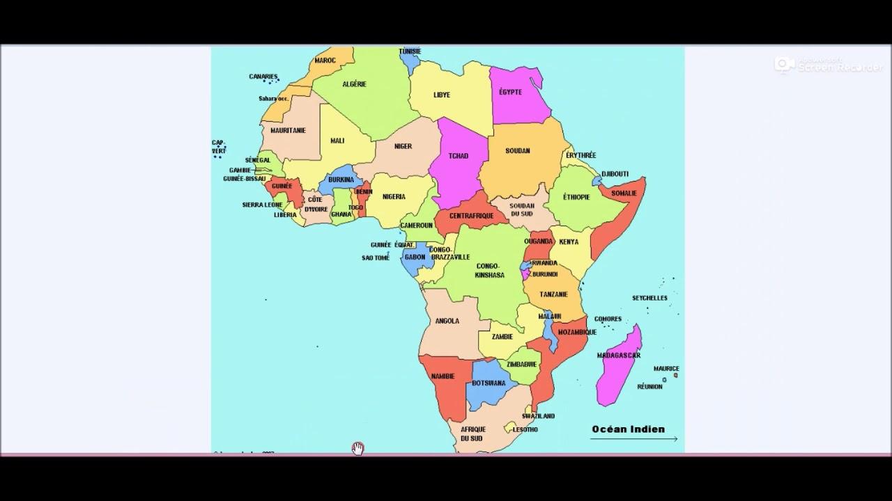 Les 55 Pays De L' Afrique Et Leurs Capitales Ainsi Que Les Mers Et Océans  En 2019 concernant Pays Et Leurs Capitales