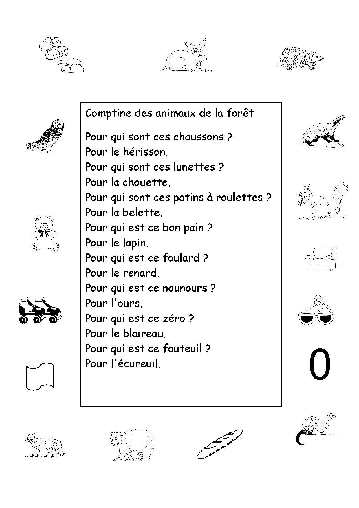 Les Animaux De La Forêt | Animaux Foret, Comptine Maternelle à Animaux Foret Maternelle