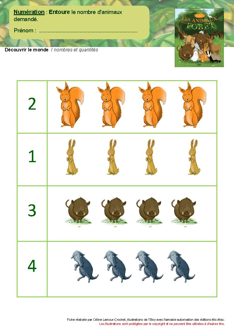 Les Animaux De La Forêt dedans Animaux Foret Maternelle