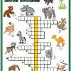 Les Animaux Sauvages - Mots Croisés | Mots Fleches Enfants pour Mot Fleché