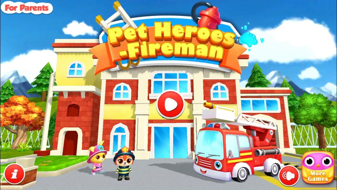 Les Animaux Super Héros Pompier - Camion De Pompier -Jeux Android & Ios  Pour Enfants #1 à Jeux Enfant Sur Pc