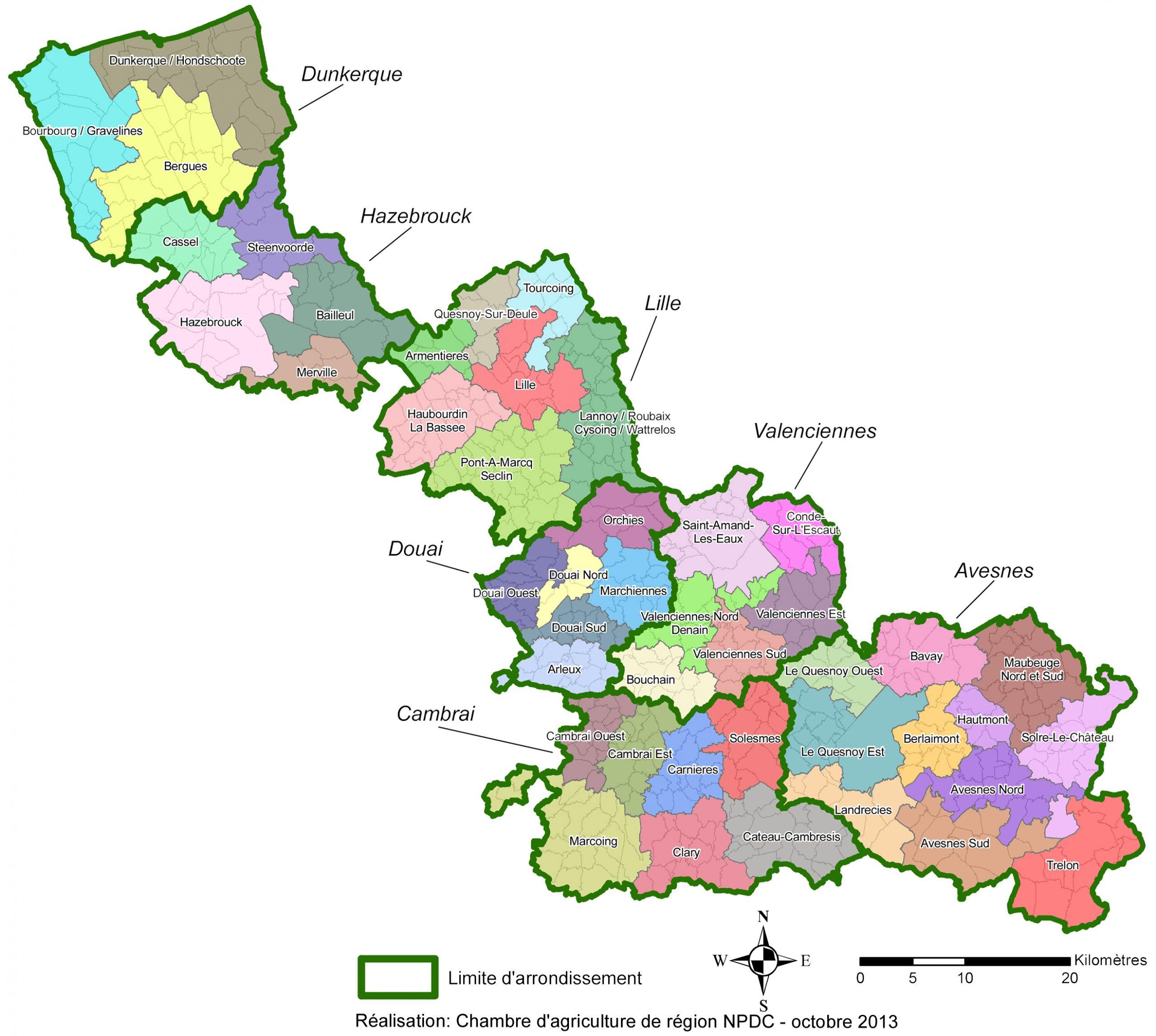 Les Arrondissements concernant Département 57 Carte