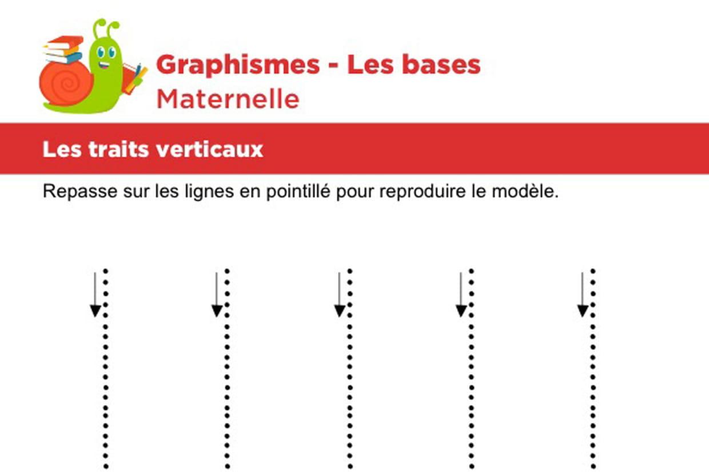 Les Bases Du Graphisme, Les Traits Verticaux Niveau 1 tout Graphisme Traits Verticaux