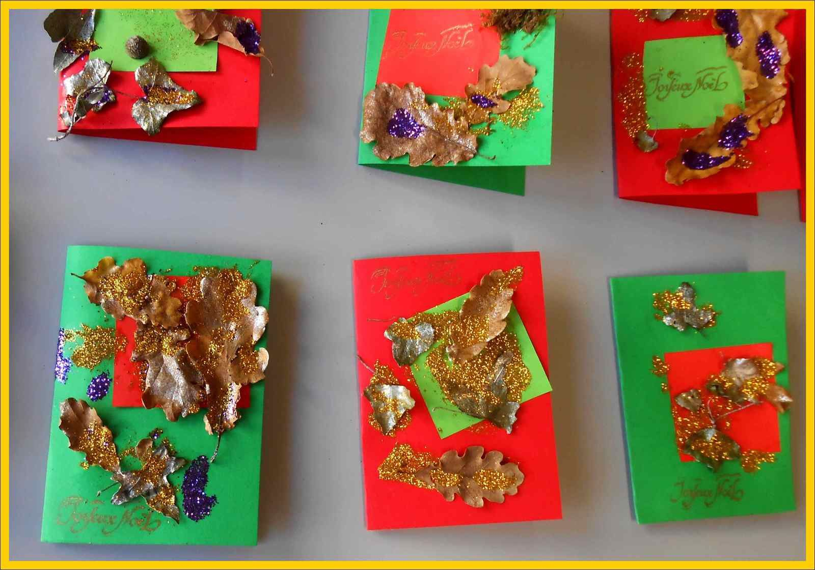 Les Cartes De Voeux (Tps Et Ps) - Ecole Saint-Pierre dedans Cartes De Noel Maternelle
