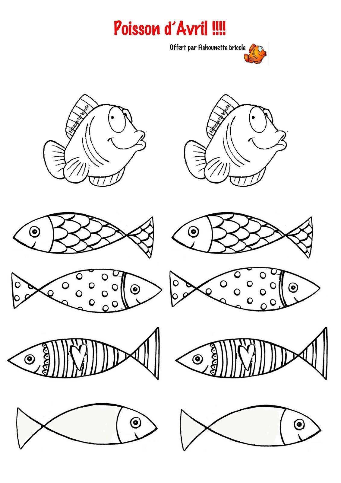 Les Diy De Fishounette : Poissons D'avril À Imprimer tout Poisson D Avril A Imprimer Gratuit