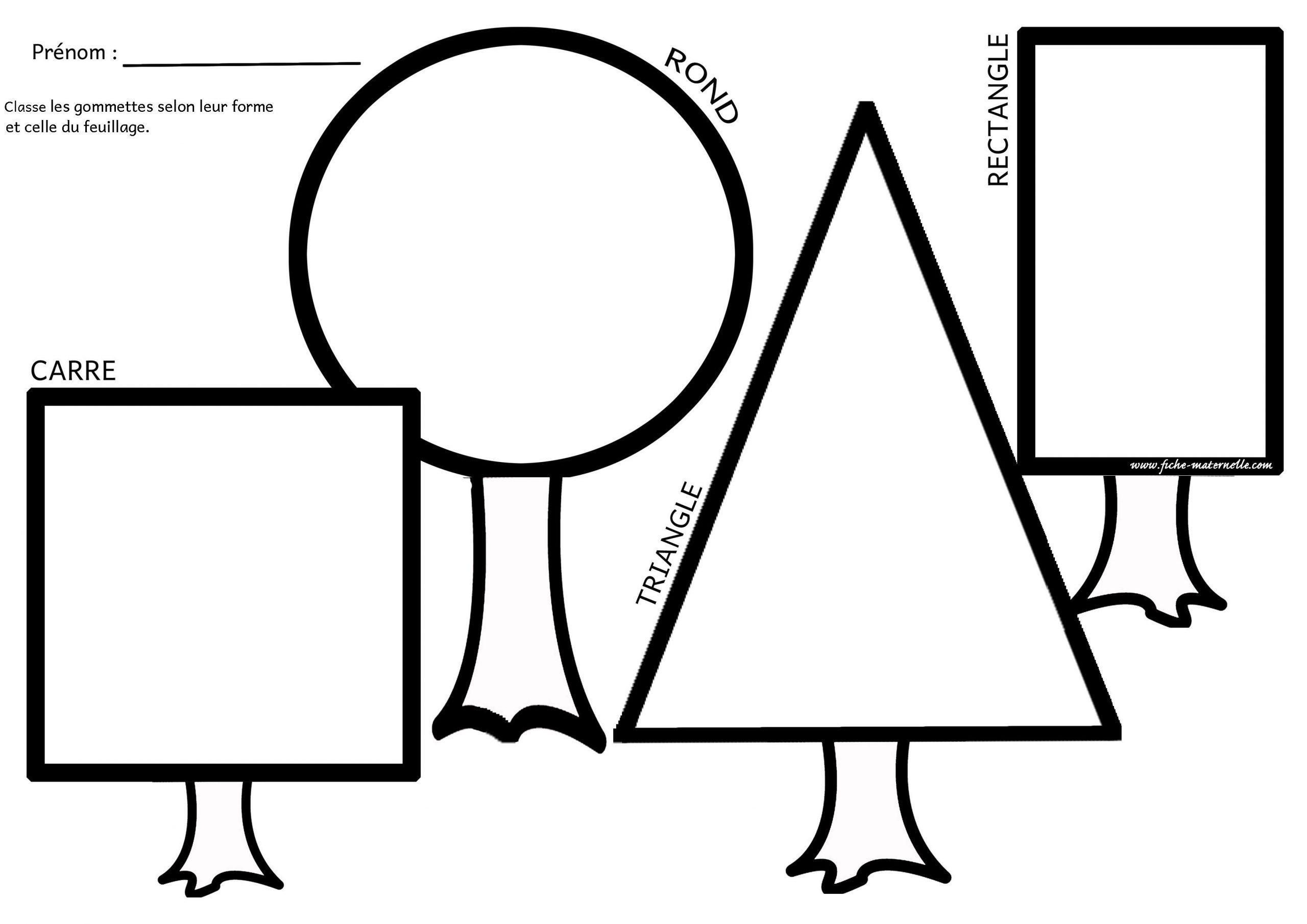 Les Figures Géométriques En Maternelle destiné Formes À Découper Maternelle