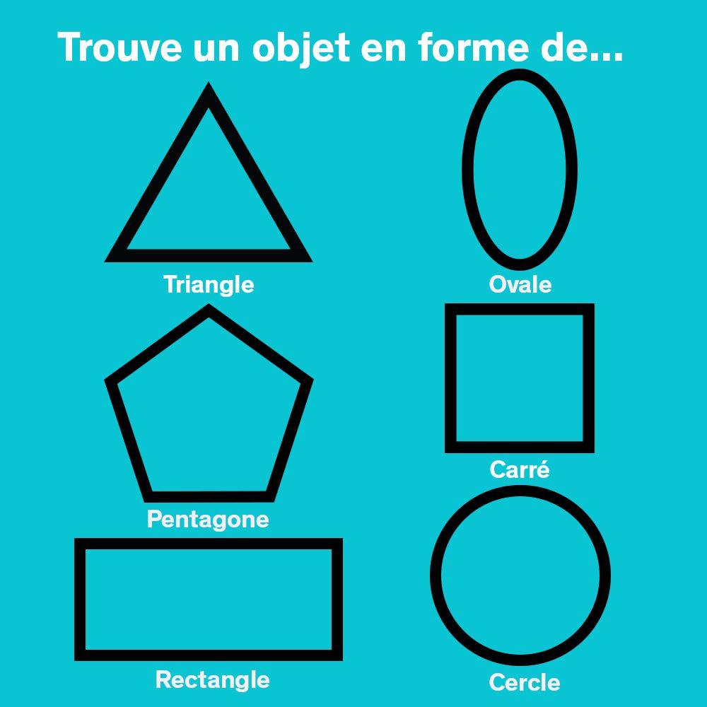 Les Formes Géométriques | Formes Géométriques, Formes, Géométrie avec Jeux Trouver Objet