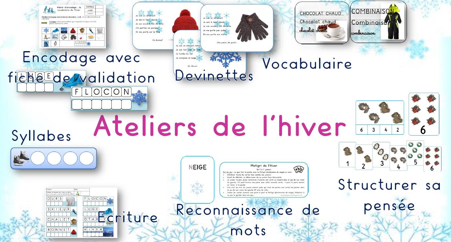 Les Jeux De Jean Noël : Dossier De L'hiver En Maternelle concernant Activité Maternelle Hiver