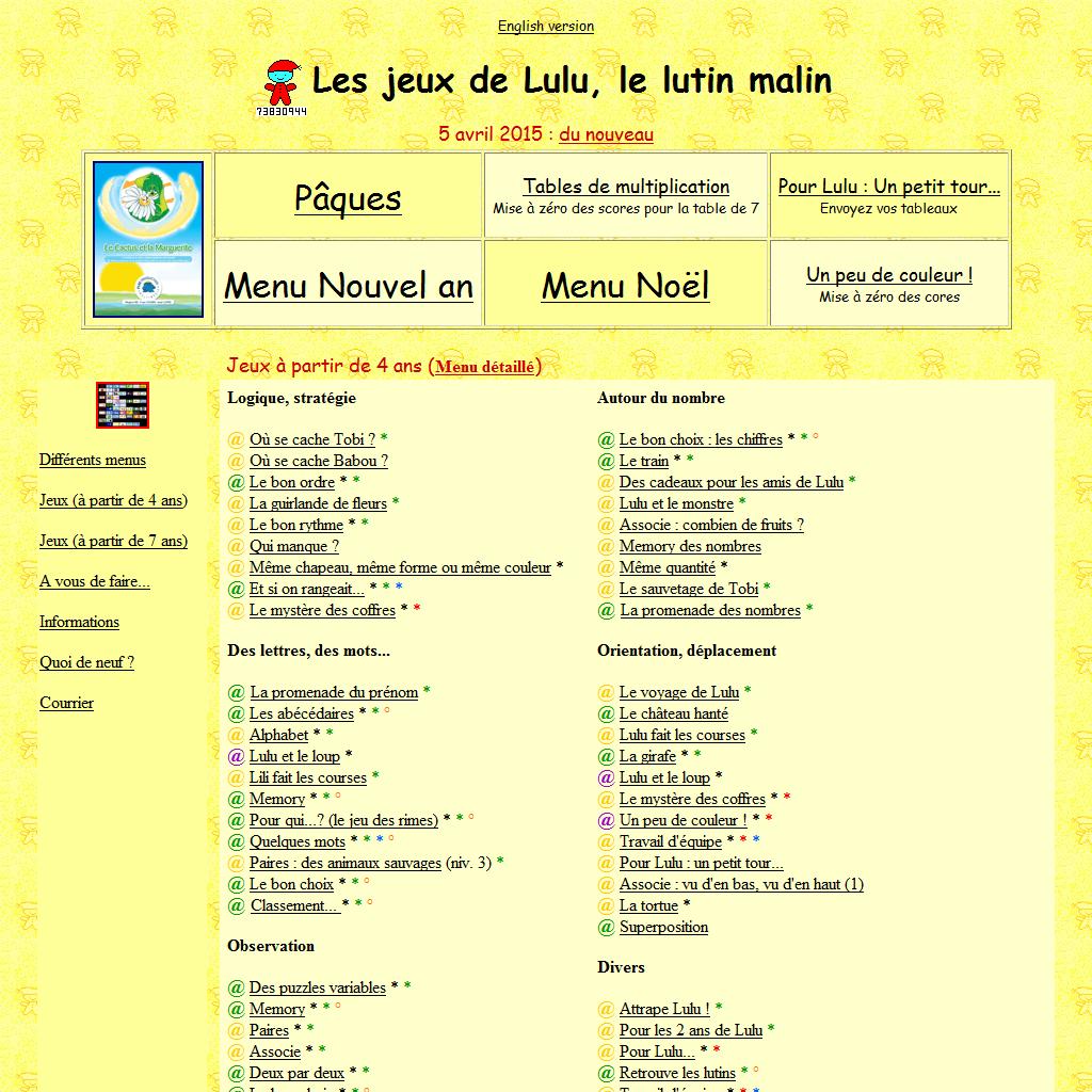 Les Jeux De Lulu, Le Lutin Malin - Detail encequiconcerne Jeux Lulu Le Lutin