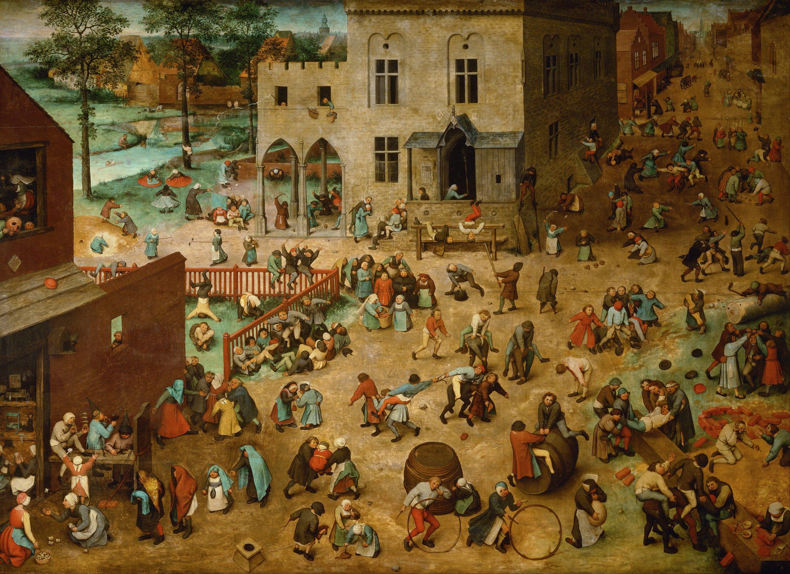 Les Jeux D'enfants, Pieter Brueghel L'ancien, 1560 concernant Jeux De Descendants