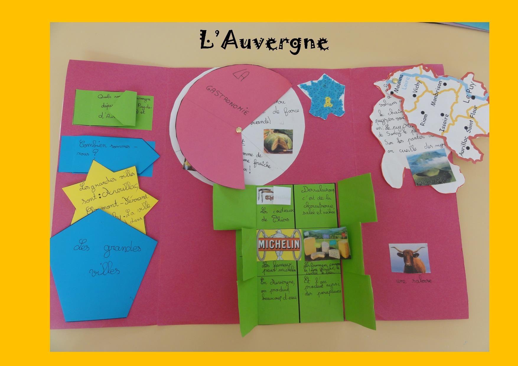 Les Lapbooks De Mes Élèves | Géographie Cm2 encequiconcerne Le Découpage Administratif De La France Ce2