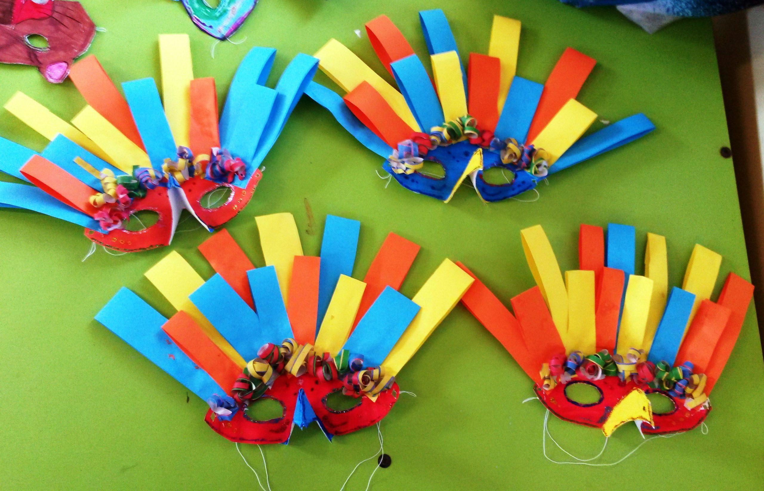 Les Masques-Oiseaux De Carnaval - La Classe De Maoam destiné Masque Maternelle