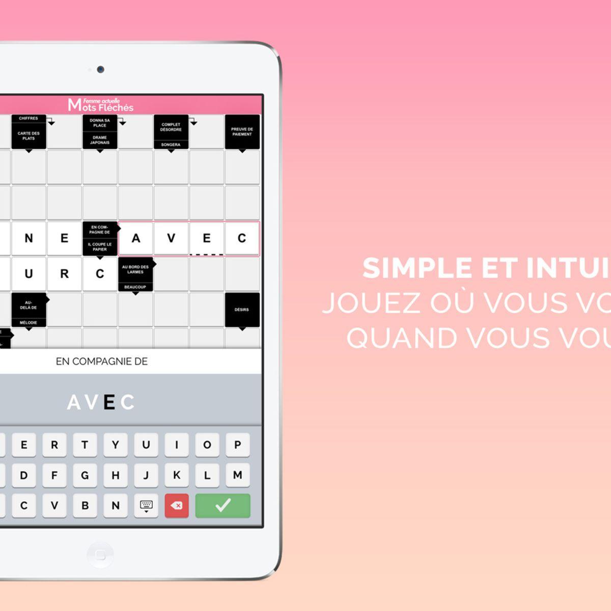 Les Mots Fléchés Femme Actuelle Sur Smartphones Et Tablettes tout Mots Croisés Et Fléchés Gratuits
