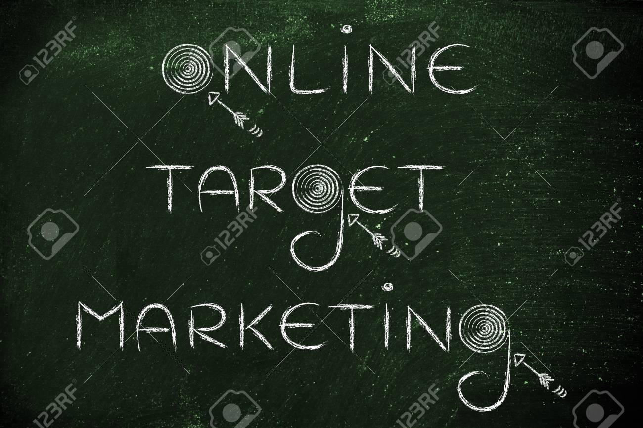 Les Mots «Marketing Ciblé En Ligne» Avec Des Cibles Et Des Flèches Réelles intérieur Mot Fleché En Ligne