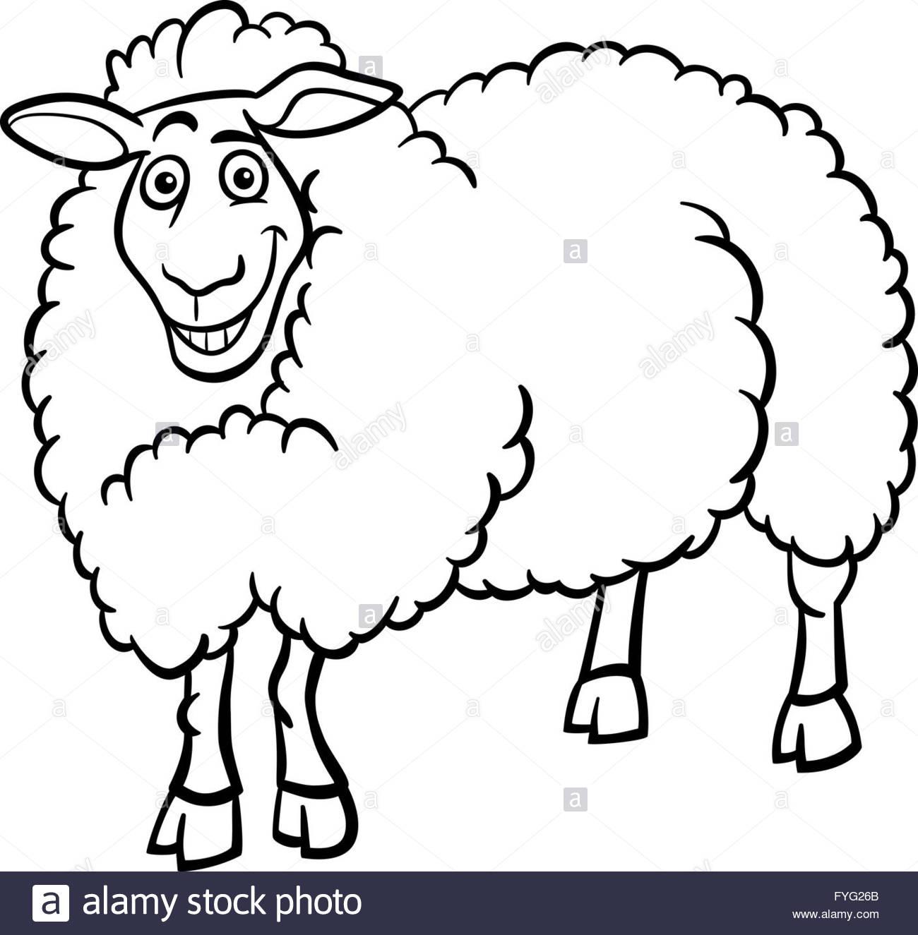 Les Moutons De La Ferme À Colorier Dessin Pour Banque D dedans Mouton À Colorier