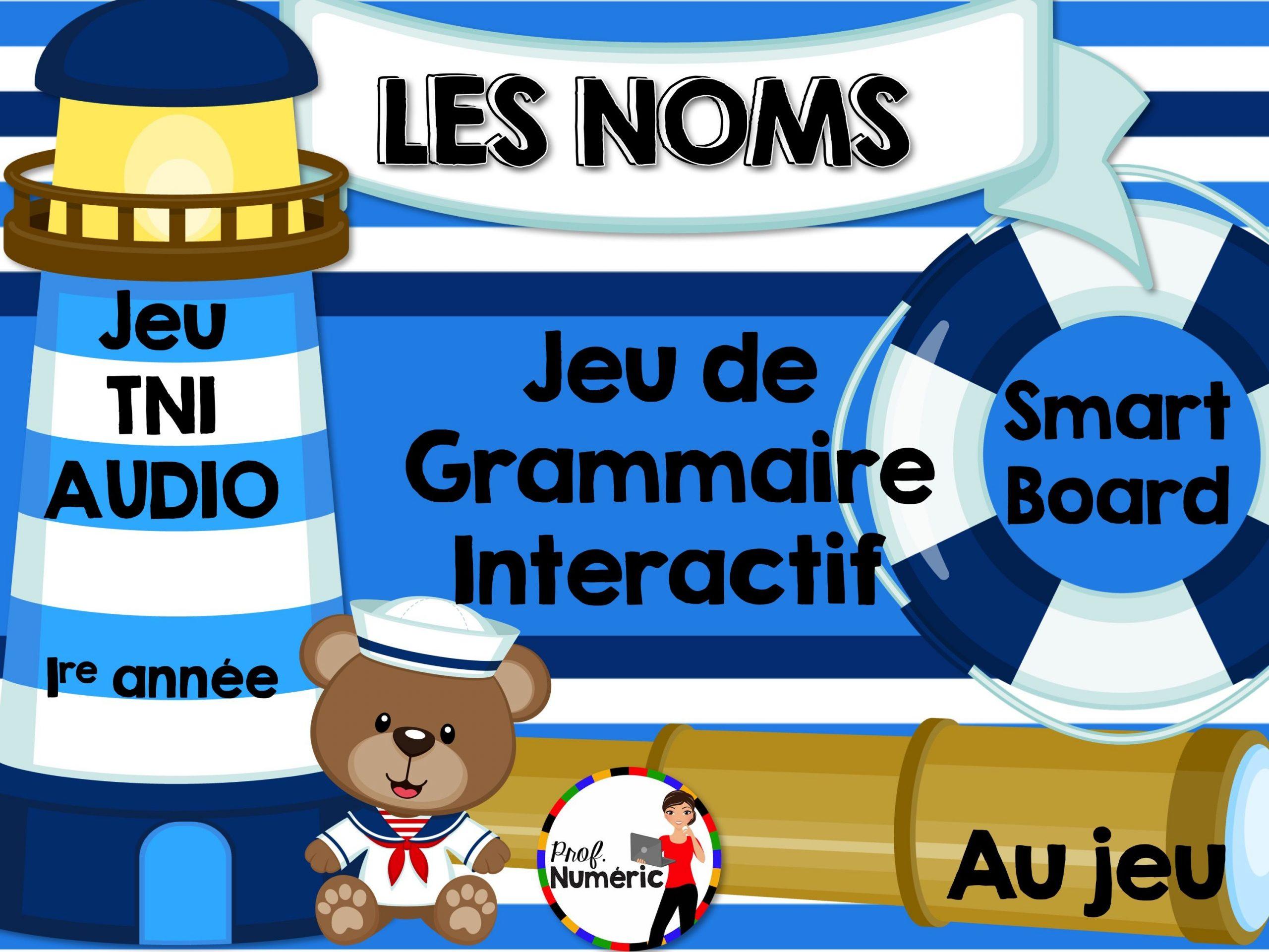 Les Noms - Jeu De Grammaire Tni Interactif | Jeux De destiné Jeux Interactifs Primaire