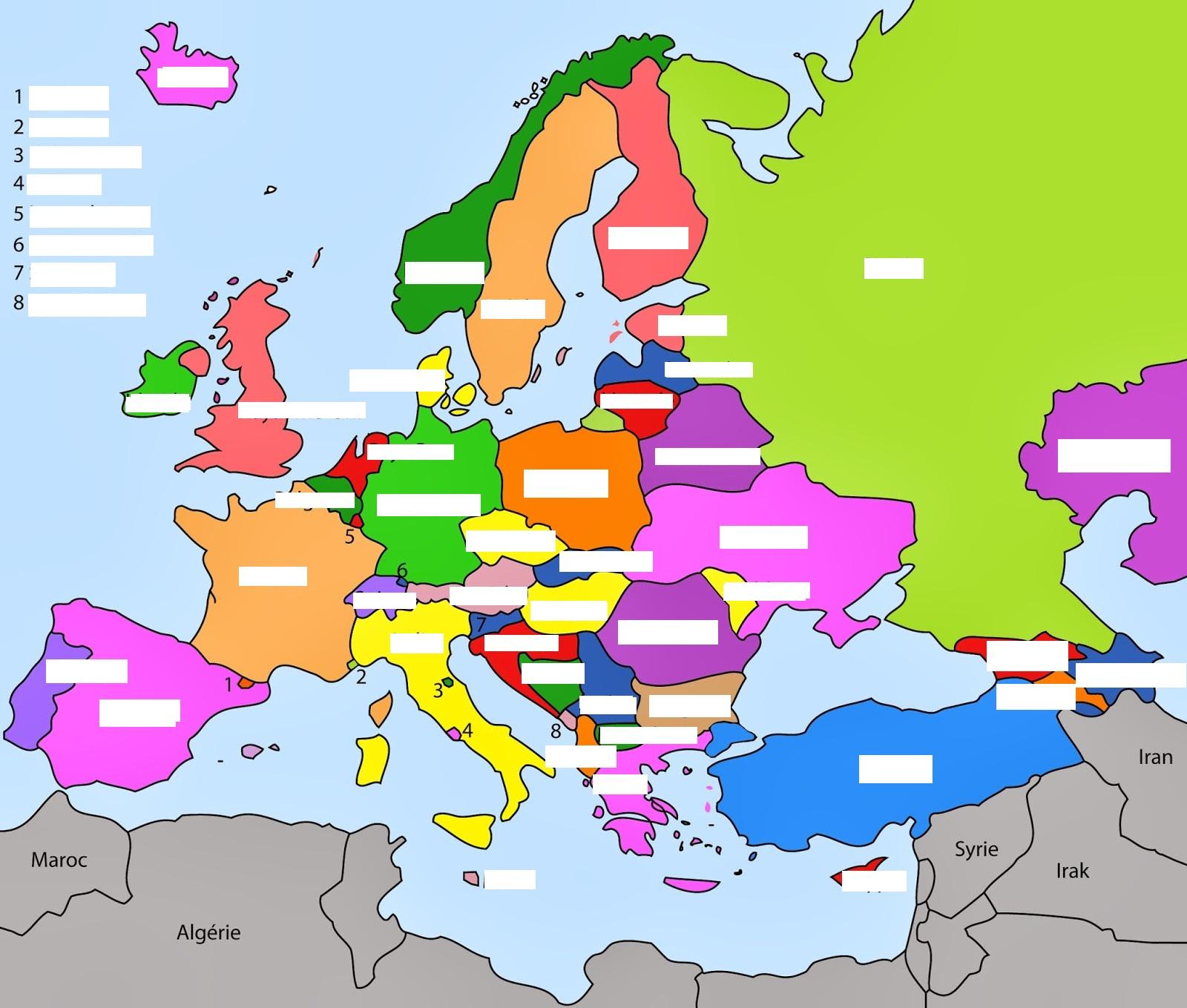 Les Pays De L'europe Et Leurs Capitales tout Les Capitales D Europe