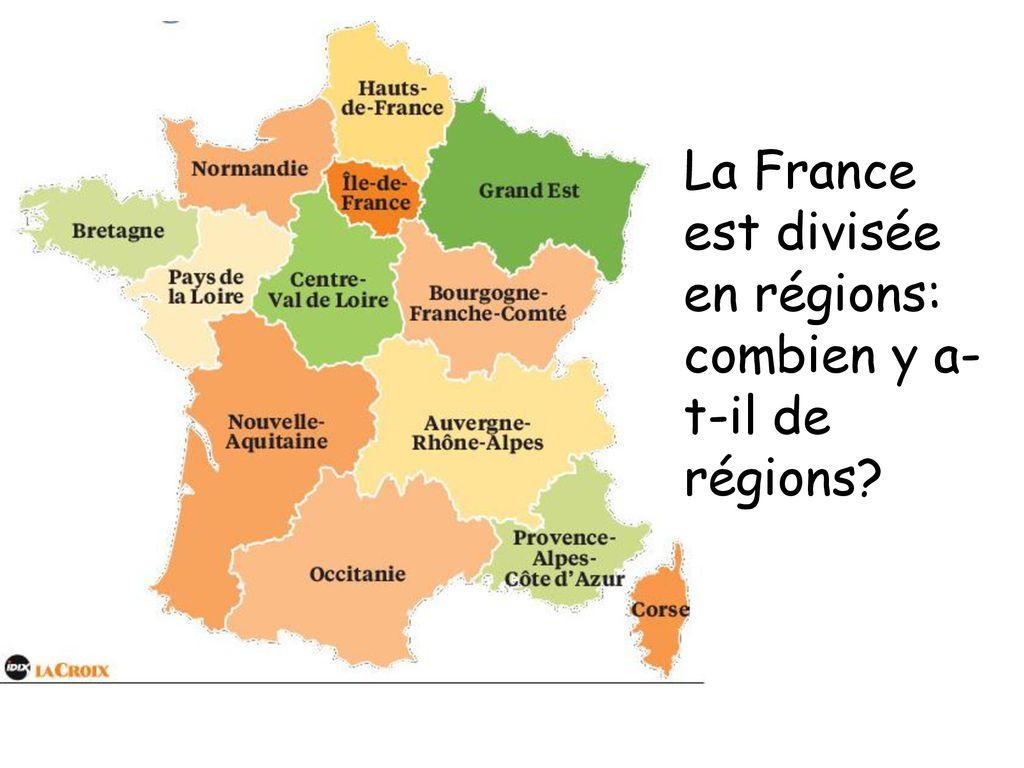Les Pays Pour Apprendre Le Nom Des Pays, Des Continents, Des intérieur Combien Yat Il De Region En France