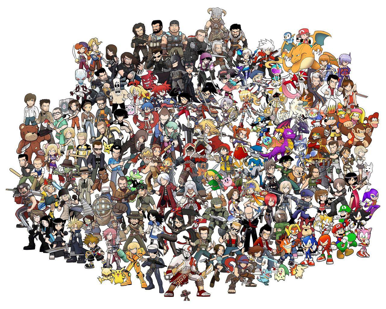 Les Personnages De Jeux Vidéo Les Plus Connus | Personnages destiné Jeux De Personnage Gratuit
